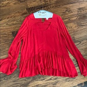 Mossimo Red Blouse